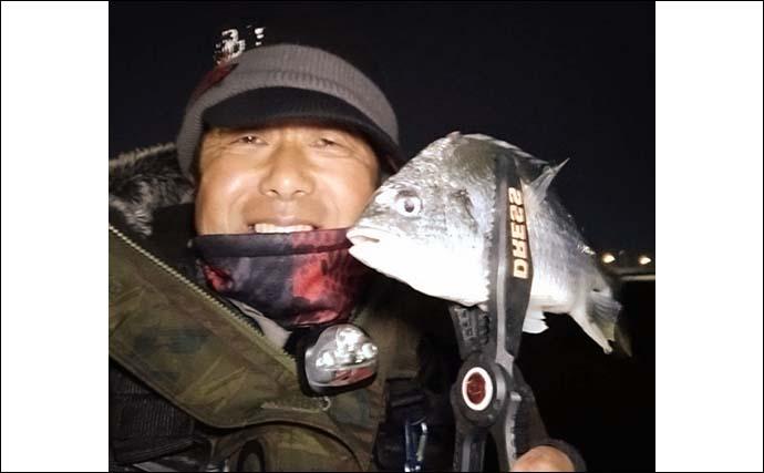 チニングで「キビレ」58匹の大爆釣 雨による濁りが奏功【名古屋】