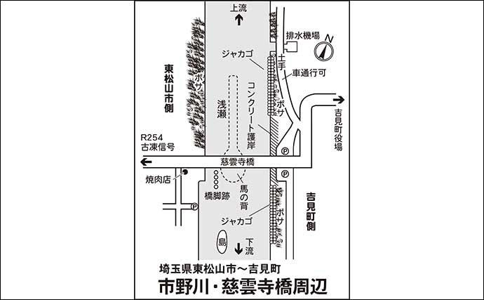 今週のヘラブナ推薦釣り場【埼玉県・市野川】