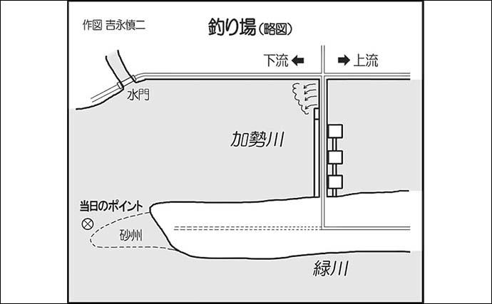 リバーシーバスゲームで50cm本命 自作ミノーでキャッチ【熊本】