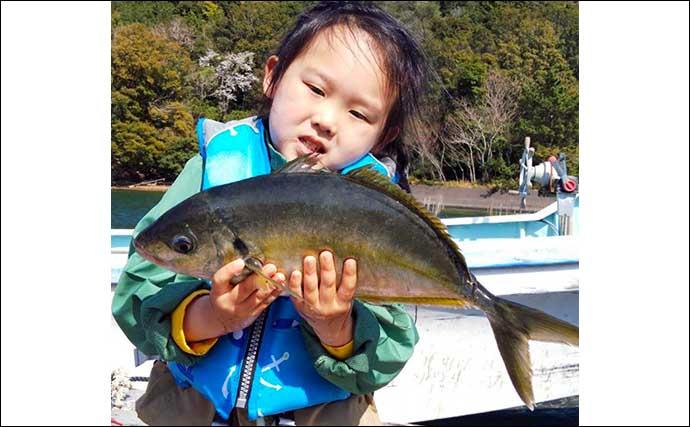 【三重】海上釣り堀最新釣果 ちびっ子アングラーがシマアジをキャッチ