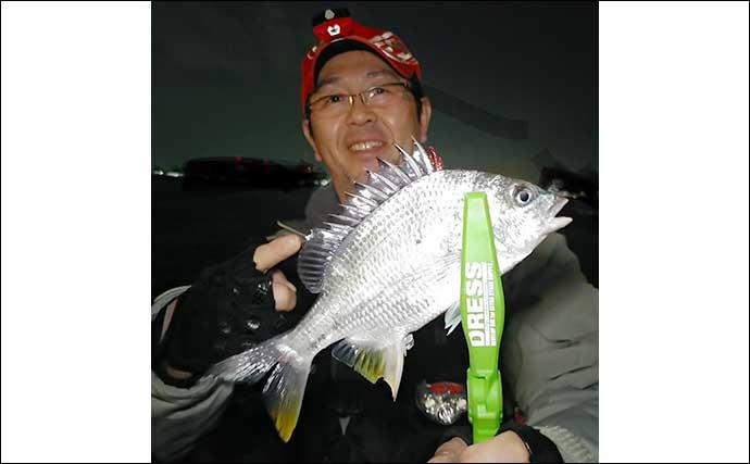 ナイトチニングゲームでキビレ狙い 3人で14匹と数釣り堪能【名古屋】