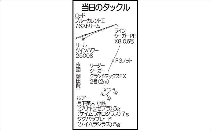 ライトゲームで35cm頭にカマス16尾 タナ変更でヒット継続【大分】