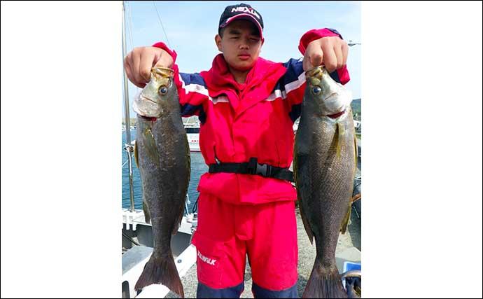 【大分・熊本】沖釣り最新釣果 テンヤ&タイラバで『桜ダイ』好気配