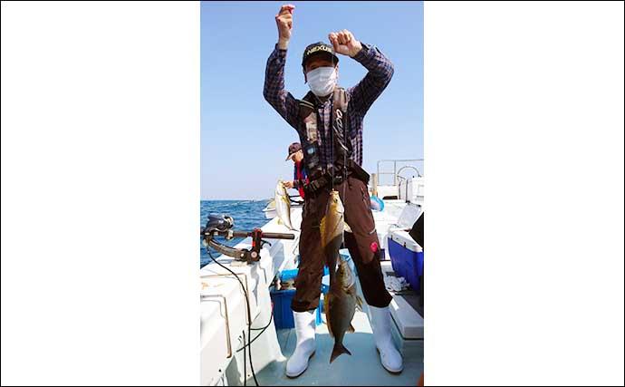 【福岡】沖のエサ釣り最新釣果 五目釣りで50cm超えチカメキントキ
