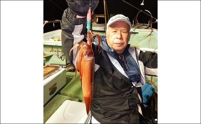 シーズン開幕の『夜焚きイカ』釣りでケンサキ・ヤリ・スルメ入れ掛り