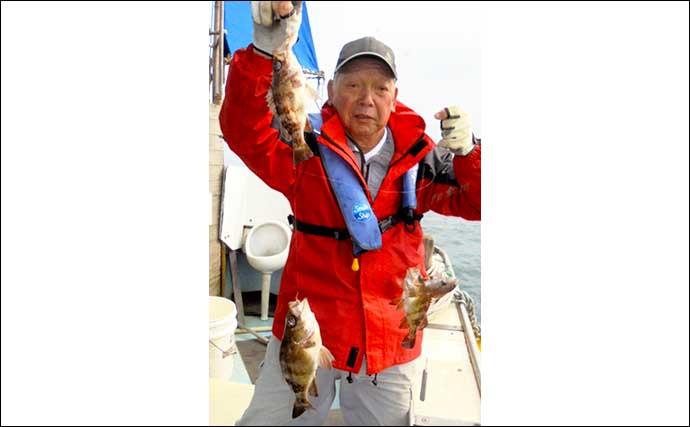 【福岡】沖のエサ釣り最新釣果 五目釣りで50cm超アマダイに高級根魚も