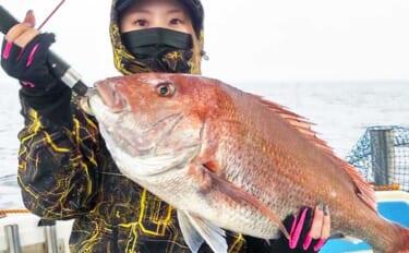 【福岡】沖のルアー最新釣果 『タイラバ』でマダイ上向き大型ヒット中