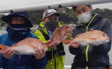 昨日ナニ釣れた?沖釣り速報:コマセ&タイラバ共に東京湾マダイ上向き