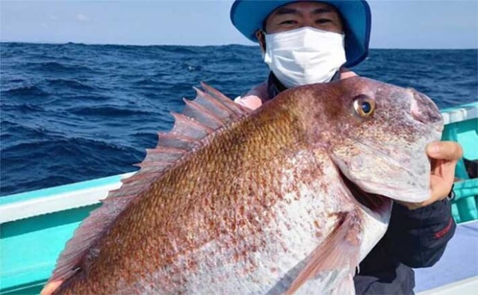 週末ナニ釣れた?沖釣り速報:外房テンヤマダイで8kg堂々浮上【関東】