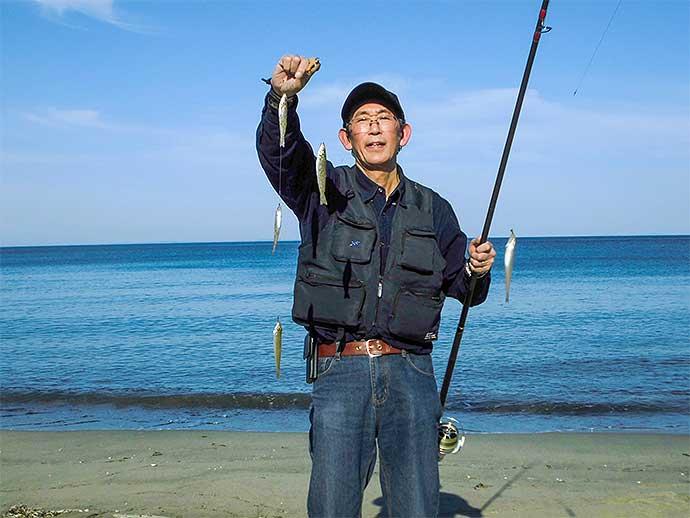 2days投げキス釣りで28匹 最大5連掛けも達成【三重・香良洲海岸】