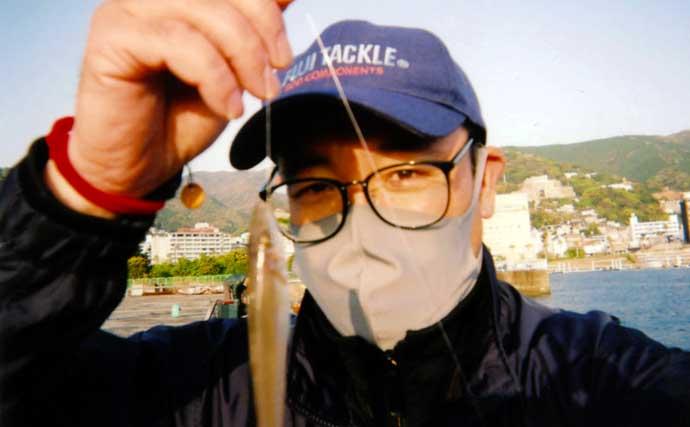 堤防の投げキス釣りで本命9尾 エサはジャリメが的中?【静岡・熱海港】
