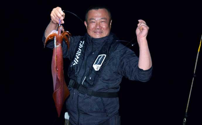 【福岡】夜焚きイカ最新釣果 「胴突き」・「イカメタル」共に満足釣果