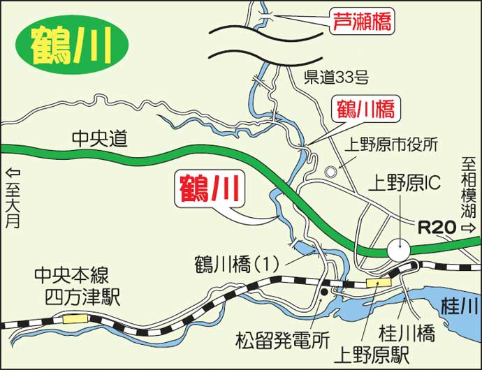 【2021山梨】アユトモ釣りオススメ河川:桂川 下流部では尺級の実績も