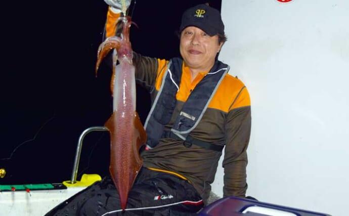 【福岡】夜焚きイカ最新釣果 パラソル級含み大型狙いの好機到来
