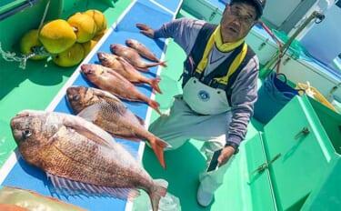 剣崎沖の乗っ込みマダイ好調継続 4kg頭にトップ7尾【神奈川・瀬戸丸】