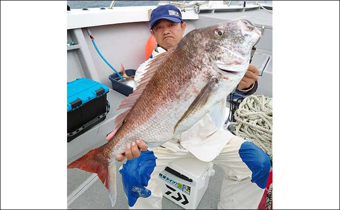 【福岡】沖のルアー最新釣果 タイラバで大型マダイ2ケタ釣果続々
