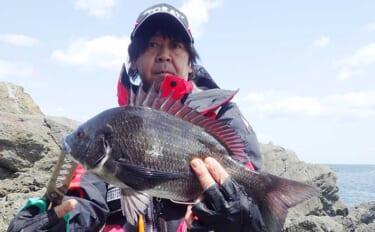 磯フカセチヌ釣りで本命7匹 好ゲストにマダイやイシダイも【徳島】