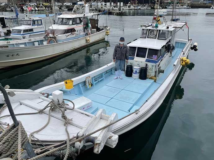 関門海峡のテンヤマダイ開幕 50cm級本命ほかマゴチ【福岡・RYUSEI】