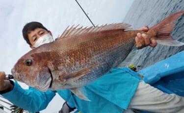 週末ナニ釣れた?沖釣り速報:茨城のテンヤマダイで7kg超え浮上【関東】