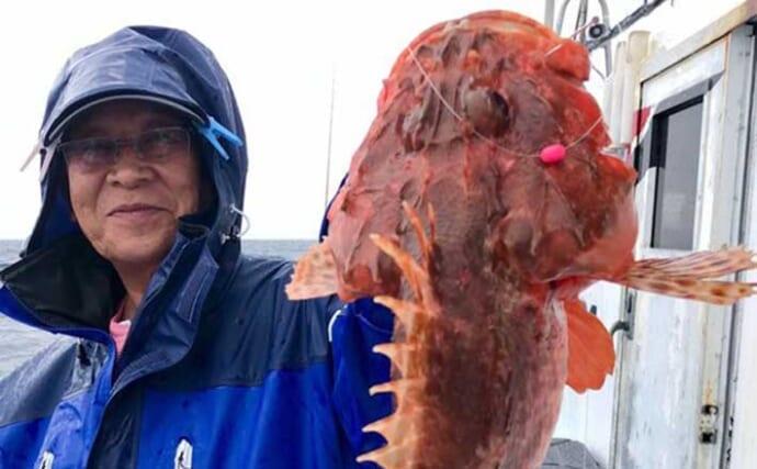 昨日ナニ釣れた?沖釣り速報:鬼の巣発見でオニカサゴ全員安打【関東】