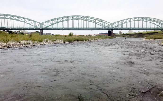 【2021栃木】鮎トモ釣りオススメ河川:渡良瀬川 後半に大アユ連発も