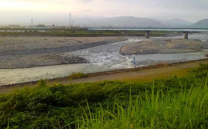 【2021富山】鮎トモ釣りオススメ河川:神通川 アタリ強烈&引き強し