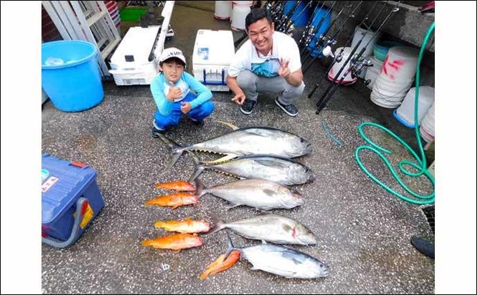 離島での泳がせ釣りで10kg超カンパチをキャッチ【八丈島・アサギク】