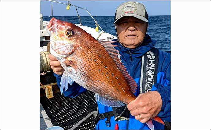 『完全フカセ』釣りで鷹巣沖の乗っ込みマダイに挑戦 数・型ともに好調