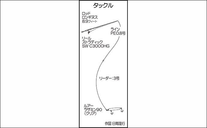 陸っぱりナイトシーバスゲームで快釣 納得の95cm本命【熊本・天草】