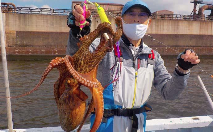 東京湾マダコ釣りが開幕 解禁日釣行は2.2kg頭に全員安打【忠彦丸】