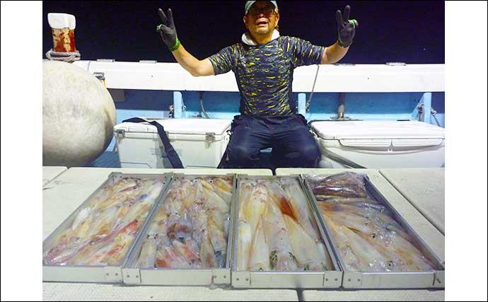 【玄界灘】夜焚きイカ最新釣果 大型多数含み3ケタ釣果続出