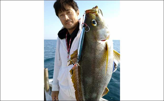 【福岡】沖のルアー最新釣果 タイラバで好ゲスト交じり大型マダイ連発