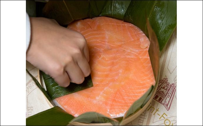 岩手で養殖「サクラマス」が初水揚げ サンマ不漁のダメージ軽減に期待