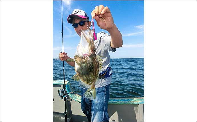 志摩沖SLJで8目達成 ハタにヒラメに尺級メバルなど美味魚をゲット