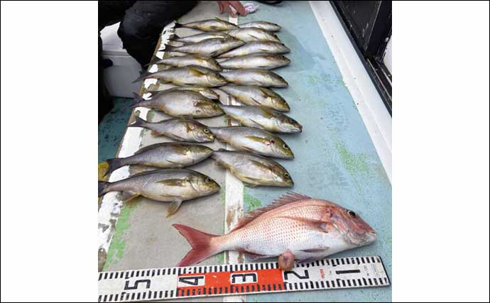 【愛知・三重】沖釣り最新釣果 90cm級マダイに 60cmシロアマダイ