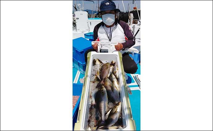 【福岡】沖のエサ釣り最新釣果 イカ泳がせでアラ6kgに大ダイ顔出し