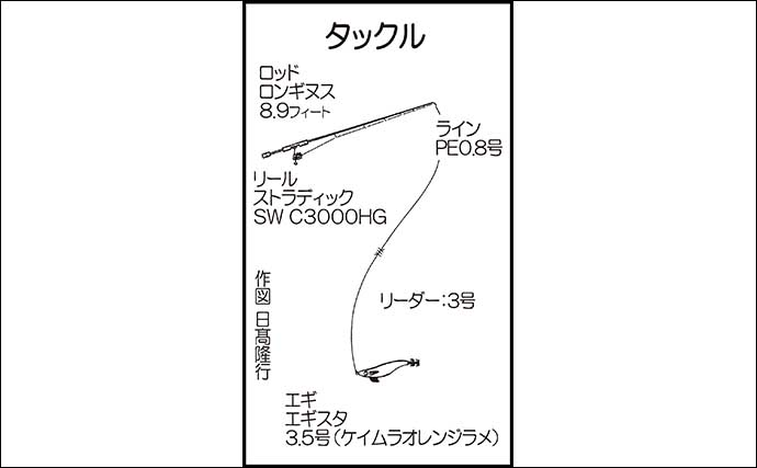 堤防ナイトエギングゲームでキロ級含め良型アオリイカ2匹【熊本・天草】
