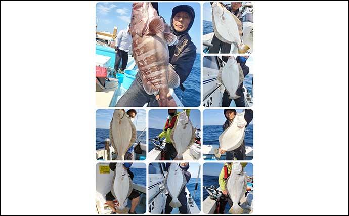 【響灘】沖釣り最新釣果 タイラバやイカ泳がせで大型マダイが顔出し
