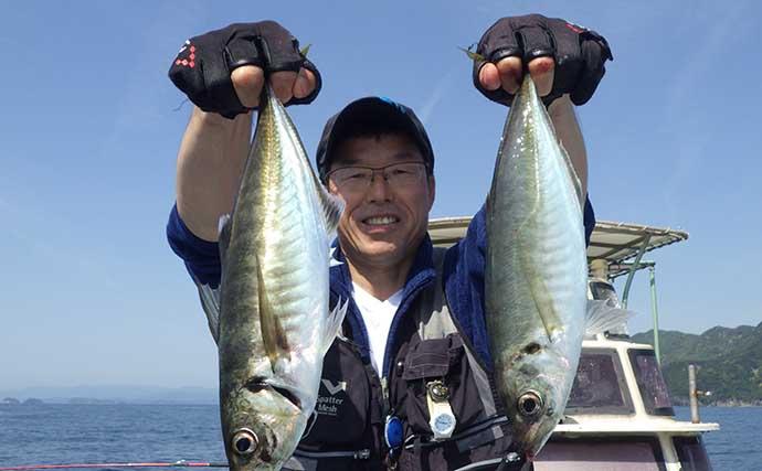 船釣りで巨アジ好調 サビキよりも天秤仕掛けが吉【徳島・日和佐沖】