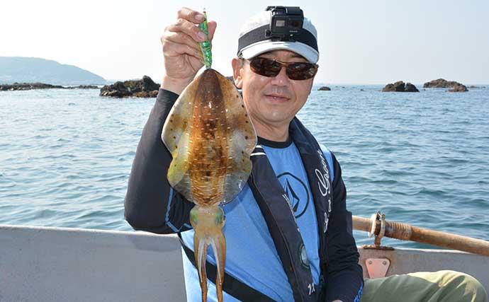 ボート釣りで1.6kgアオリイカ エギングと相性抜群の釣りドコとは?
