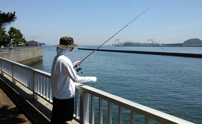 親娘で楽しむ駅近『ちょい投げ釣り』 初心者でも安心安全【神奈川】