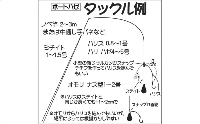 【2021関東】ボートハゼ釣り入門 タックル・釣り方・オススメ船宿