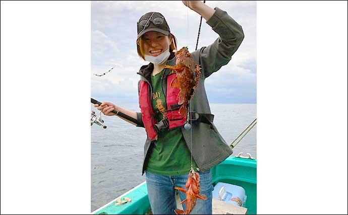 「胴突き」根魚五目釣りでアカハタ 光るオモリが大当たり?【東伊豆】