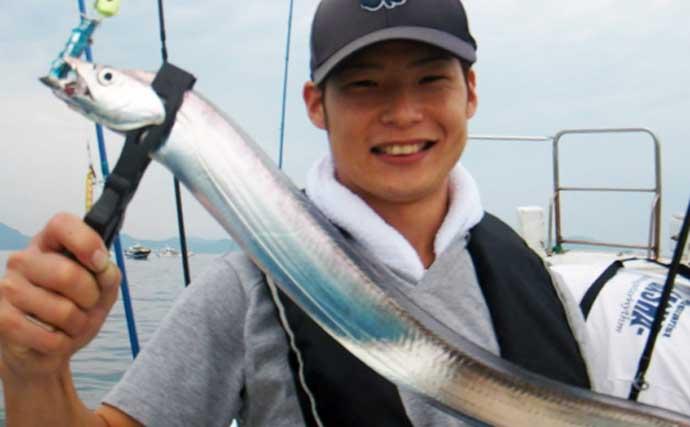 【福岡】沖のエサ釣り最新釣果 近場でドラゴンサイズ交えタチウオ好調