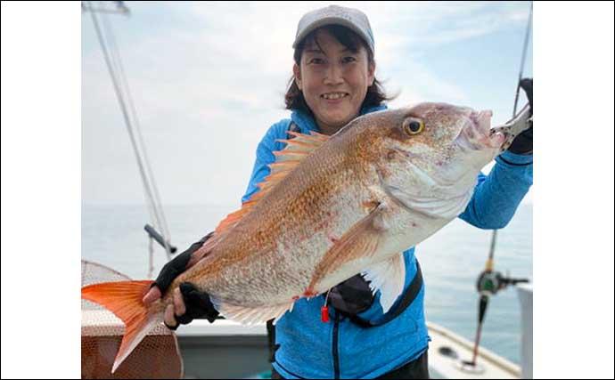 【大分・熊本】沖釣り最新釣果 イサキ五目釣り好ゲストに大型イシダイ