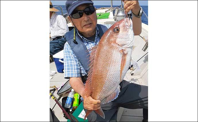 【響灘】沖のルアー最新釣果 タイラバで好ゲスト交じり良型マダイ続々