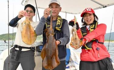 ボートエギング&イカメタルで3.3kg大型アオリ含みイカ3種爆釣【福岡】