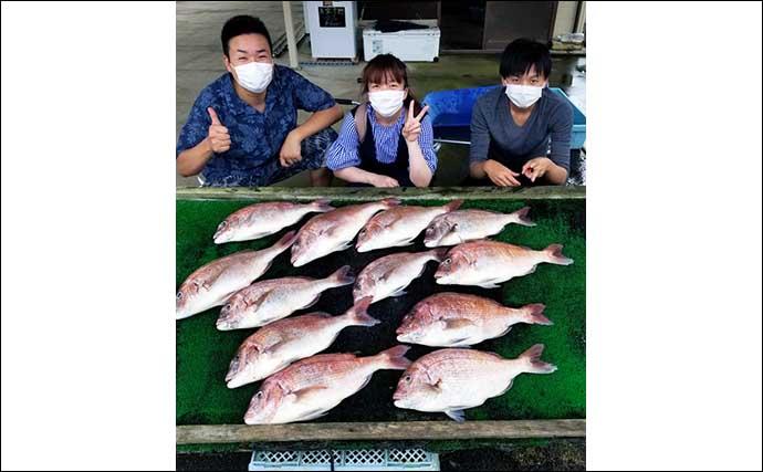 【三重】カカリ釣り&海上釣堀の最新釣果 好土産は絶品ブランドマダイ