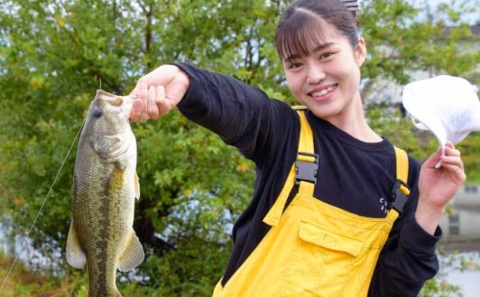人気フィールドでバス釣り 人生初のバスキャッチに歓喜【岐阜・大江川】