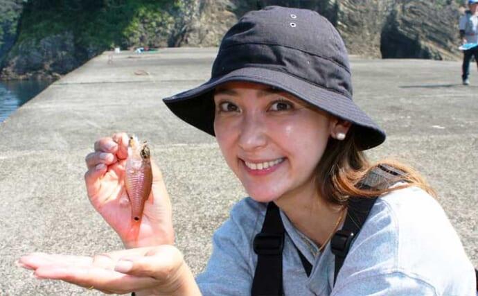 沖堤でライトゲーム 狙い魚種定めず五目釣りを満喫【静岡・西伊豆】